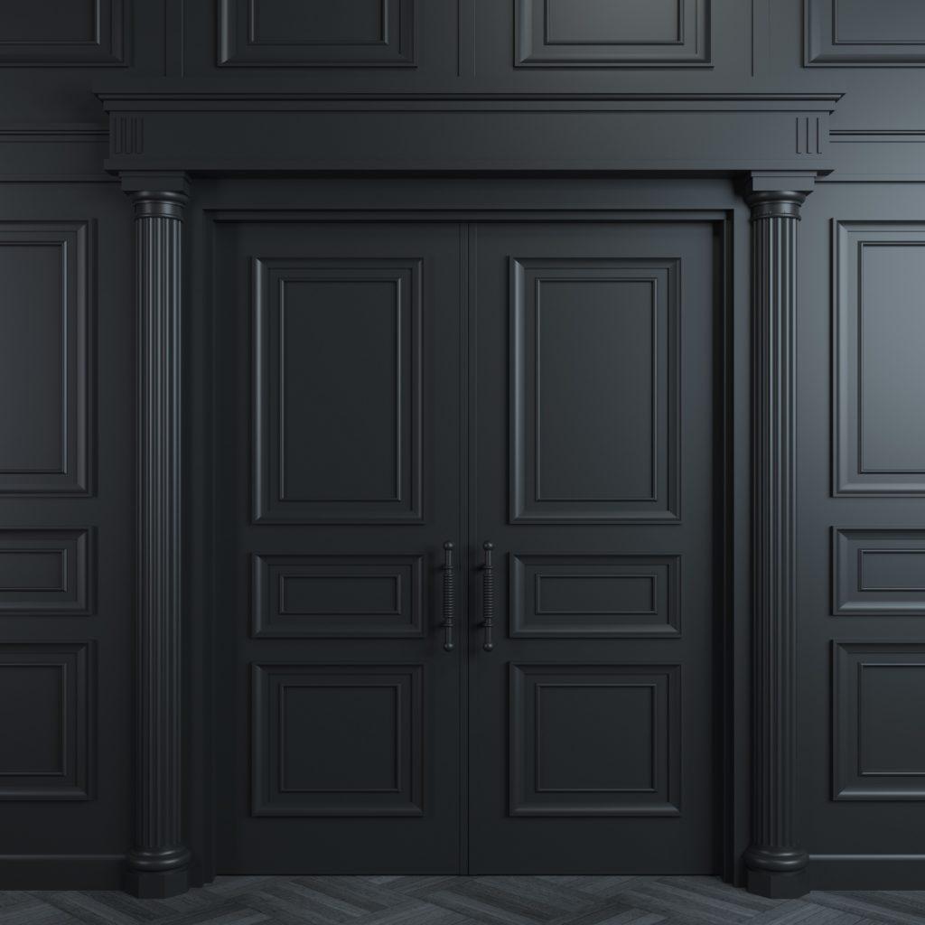 Doors_trim_painted_black