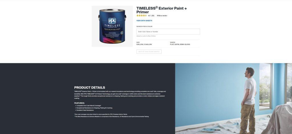 PPG™_TIMELESS®_Exterior_Paint_Primer
